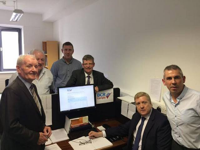 Minister Pat Breen at BCR Complys office in Sligo